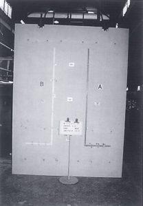 耐火性能試験 試験終了後の裏面側の状況